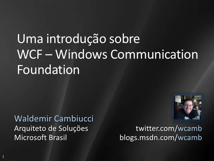 AAB303 - Windows Communication Foundation - wcamb