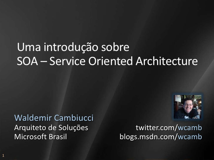 AAB305 - Service Oriented Architecture - wcamb