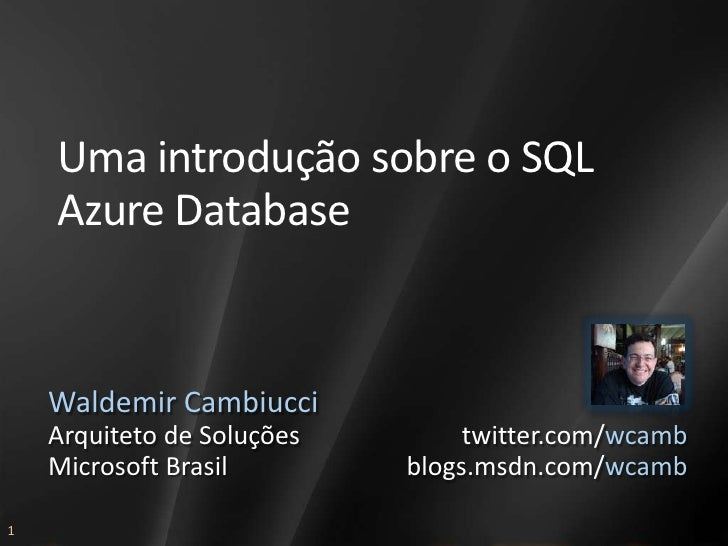 AAB309 - SQL Azure Database - wcamb
