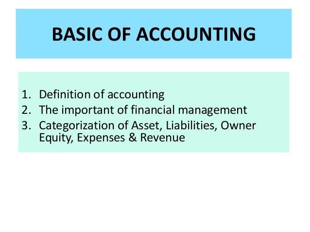 Aa basic accounting