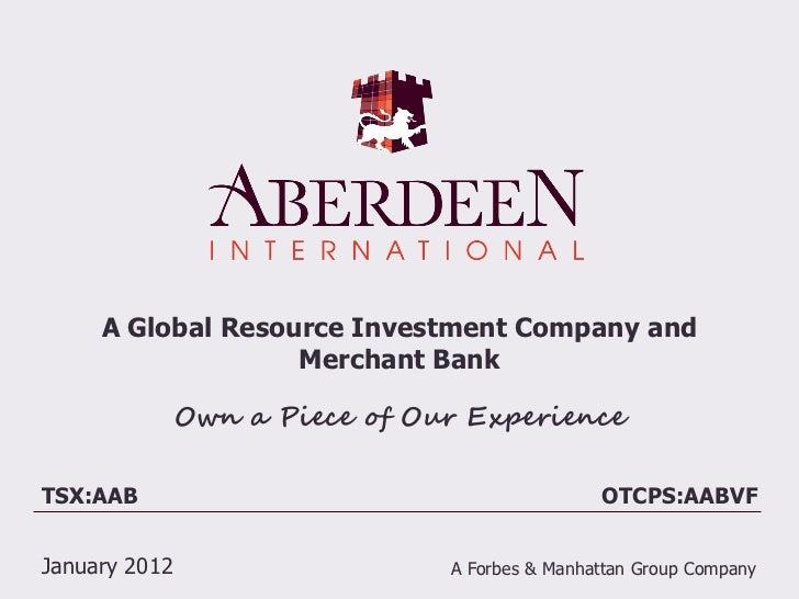 Aberdeen International Corporate Presesentation