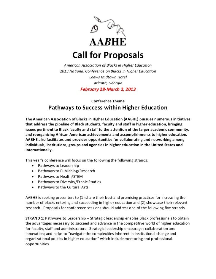 AABHE 2013 Call for Proposals