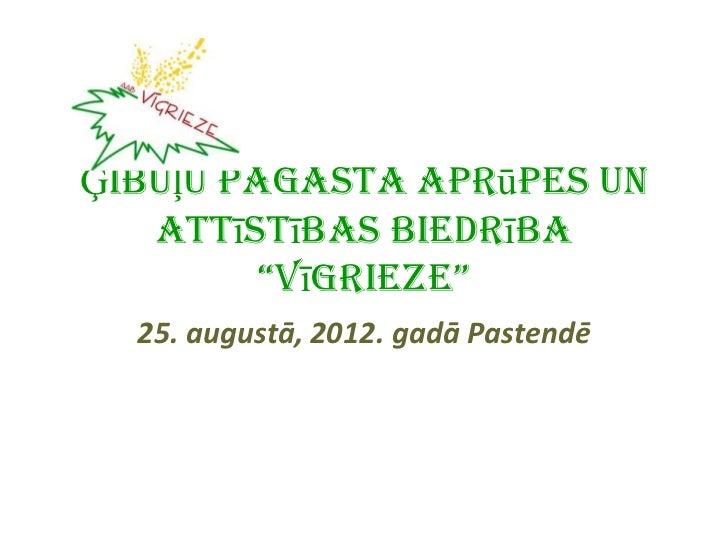 """Ģibuļu pagasta Aprūpes un   Attīstības Biedrība         """"Vīgrieze""""  25. augustā, 2012. gadā Pastendē"""