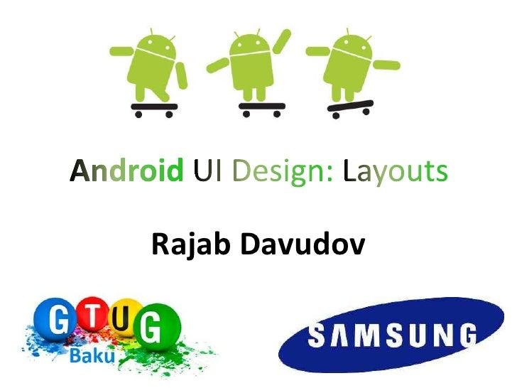 Android Erası 2 - UI və layoutlar