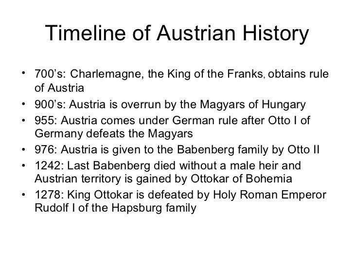 Interestin topic in Austrian history?