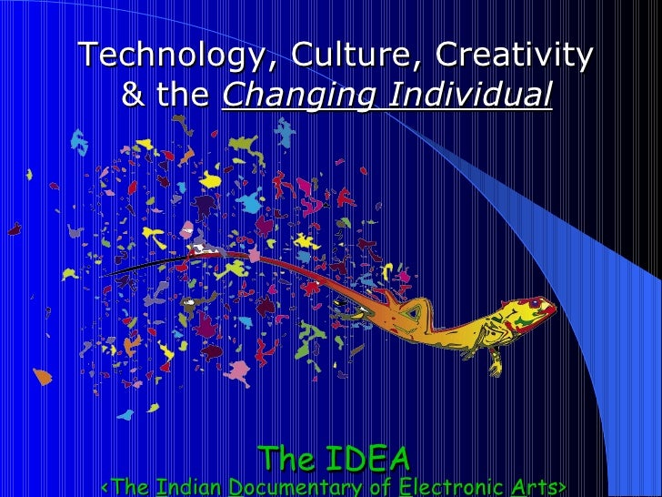 From December 2000 ~ Technology, Culture, Creativity & the Changing Individual
