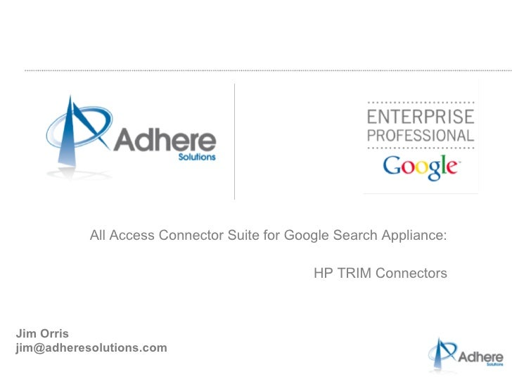 Indexing HP's Trim Context with the Google Search Appliance
