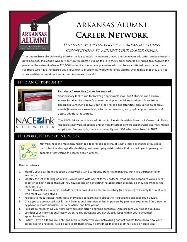 Arkansas Alumni Career Network Utilizing your University of Arkansas alumni connections to achieve your career goals. Razo...