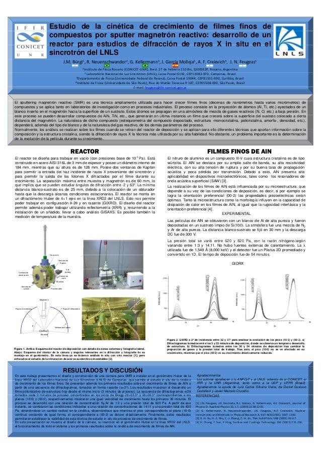 Estudio de la cinética de crecimiento de filmes finos de compuestos por sputter magnetrón reactivo: desarrollo de un reactor para estudios de difracción de rayos X in situ en el sincrotrón del LNLS