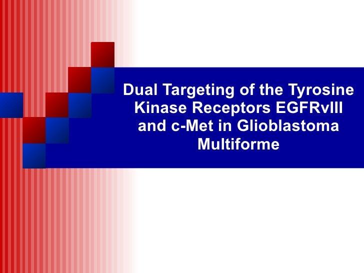 Dual Targeting of the Tyrosine Kinase Receptors EGFRvIII and c-Met in Glioblastoma Multiforme