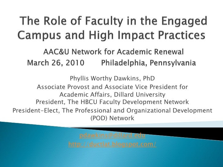 Phyllis Worthy Dawkins, PhD         Associate Provost and Associate Vice President for                 Academic Affairs, D...