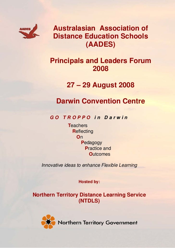 Australasian Association of         Distance Education Schools                  (AADES)         Principals and Leaders For...