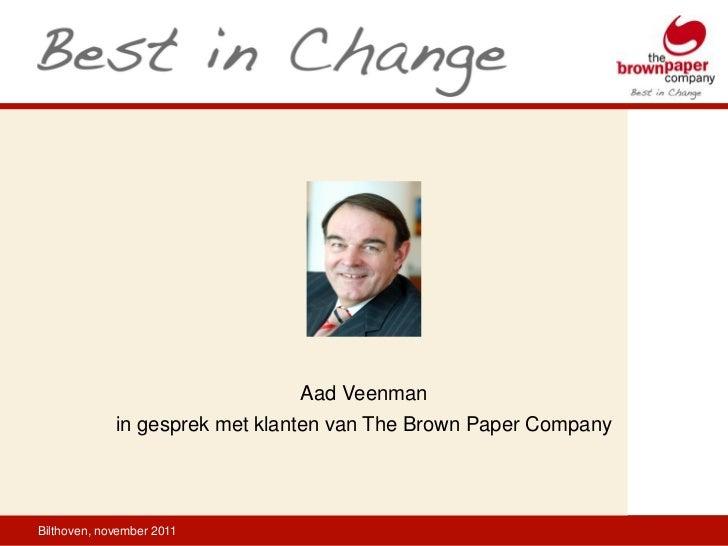 Aad Veenman             in gesprek met klanten van The Brown Paper CompanyBilthoven, november 2011
