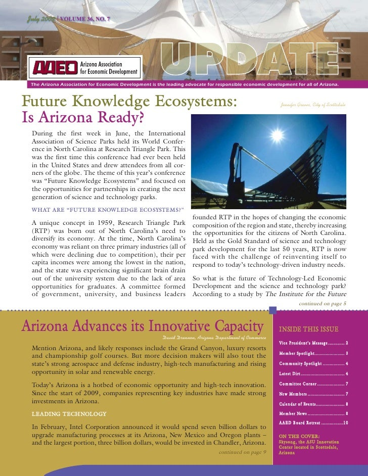 July 2009 | VOLUME 36, NO. 7                                                           UPDATE  The Arizona Association for...