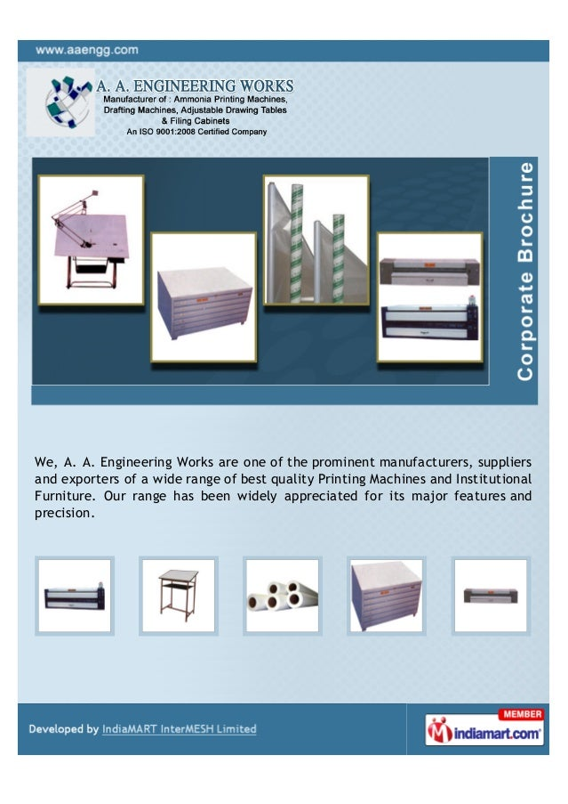 A. A. Engineering Works, Secunderabad, Continuous Plan Printer