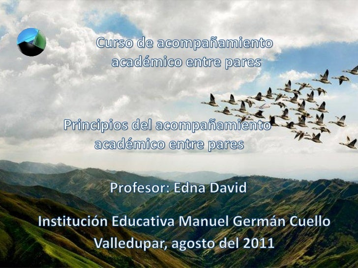 Principios del acompañamiento academico entre pares