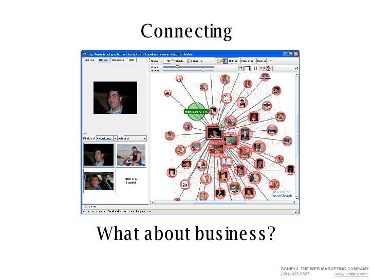 Connecting SCHIPUL THE WEB MARKETING COMPANY   (281) 497-6567  www.schipul.com What about business?