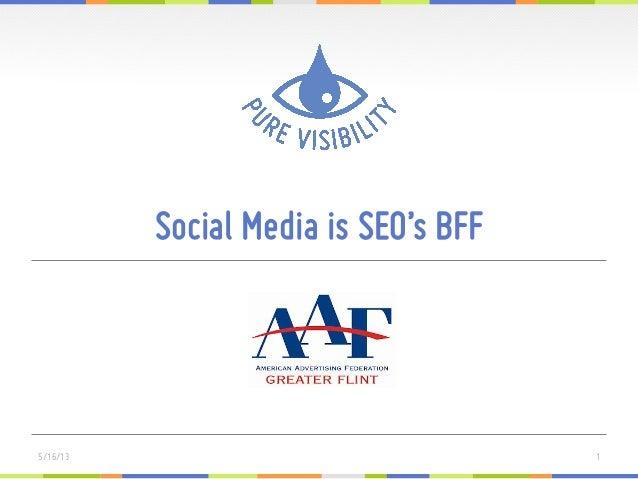 Social Media is SEO's BFF15/16/13