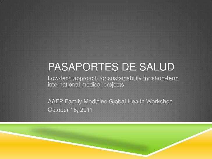 Aafp pasaportes de salud