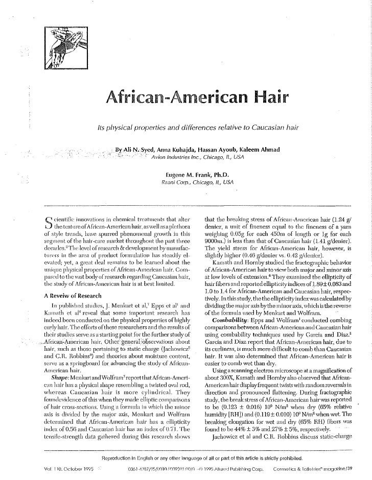 African~American                                                           Hair                                Its physica...