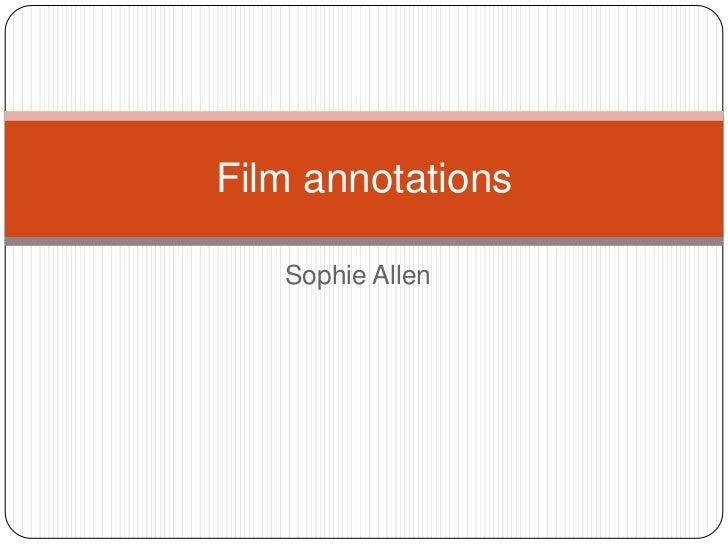 Film annotations