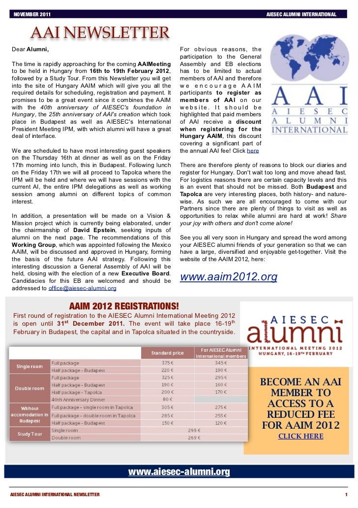 AAI Newsletter November 2011
