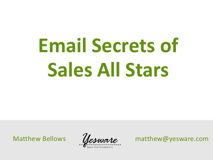 Yesware Research: Email for Sales Open Rate Findings