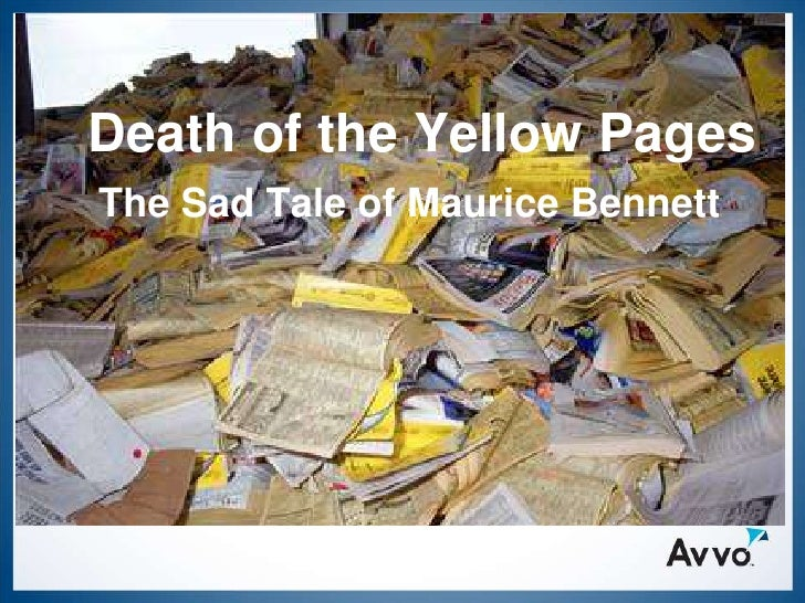 Death of the Yellow Pages The Sad Tale of Maurice Bennett