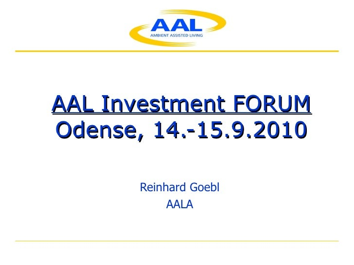 AAL Investment Forum
