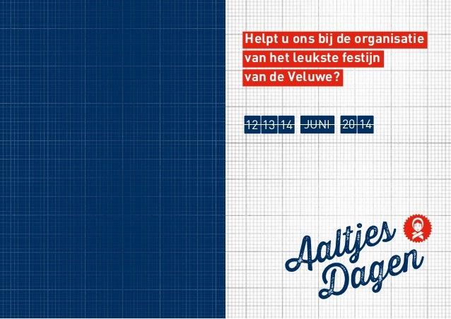 Aaltjesdagen Harderwijk Sponsorfolder 2014