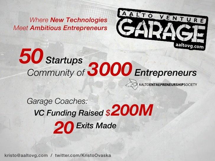 Aalto Venture Garage presentation