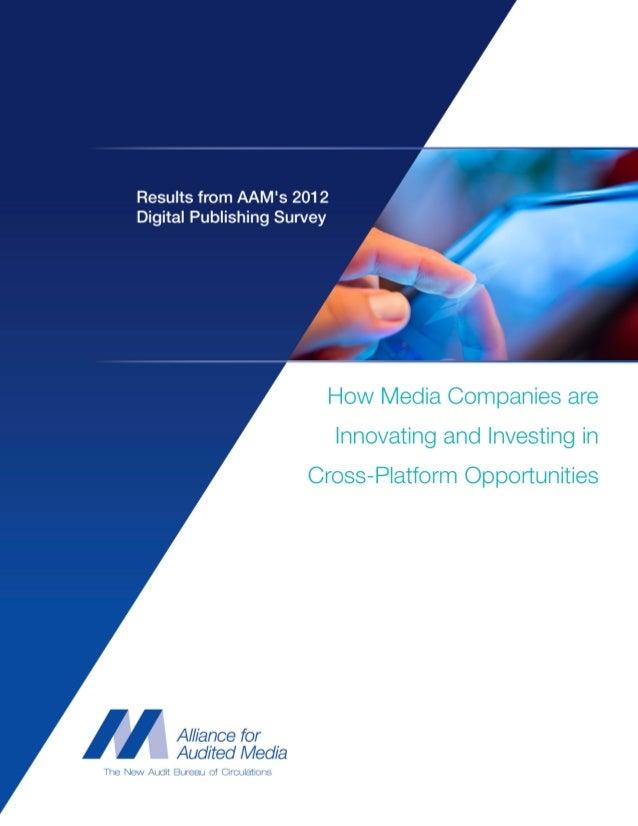 AAM's 2012 Digital Publishing Survey