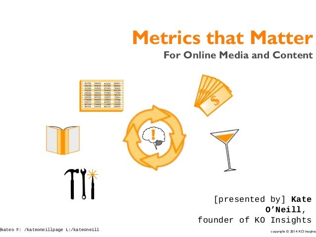 copyright © 2014 KO Insights@kateo F: /kateoneillpage L:/kateoneill Metrics that Matter For Online Media and Content [pres...