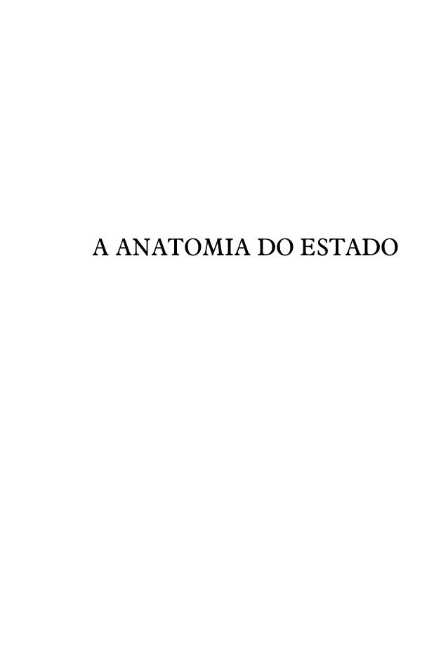 A anatomia do estado