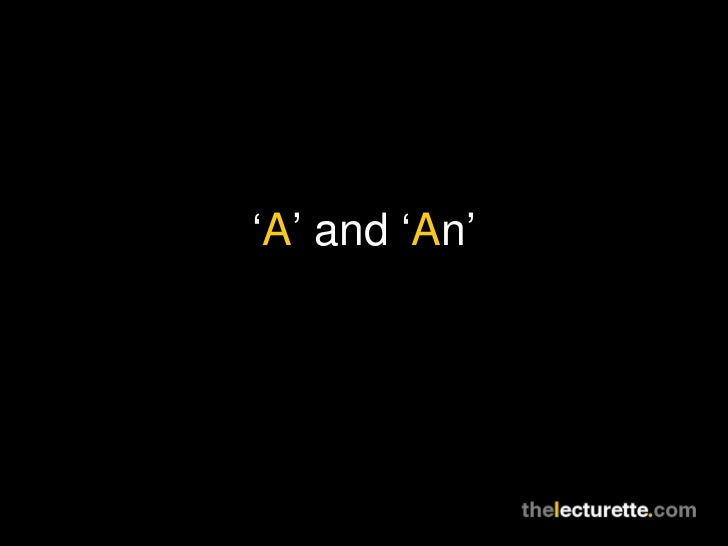 ' A ' and ' A n'