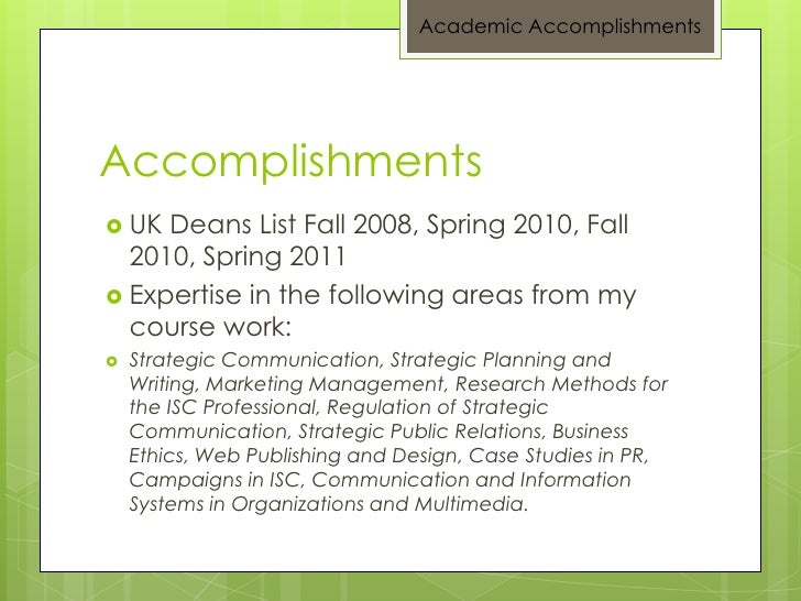 essay on accomplishments Essay on my country pakistan - accomplishments most of what is applicable to writing a successful personal growth essay holds here for accomplishment pieces: colleges use the relation of accomplishments to get insight into applicants personalities and character traits.