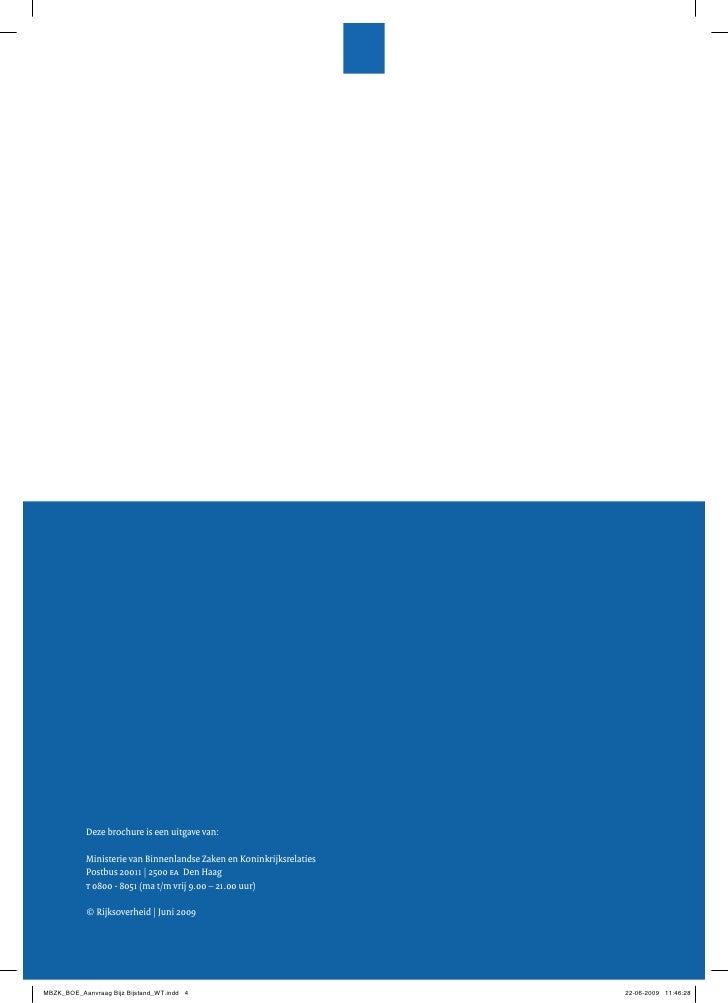 Deze brochure is een uitgave van:              Ministerie van Binnenlandse Zaken en Koninkrijksrelaties             Postbu...