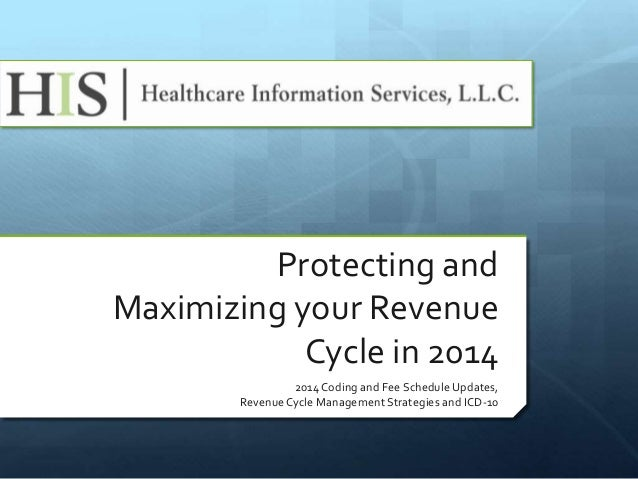 Protecting and Maximizing your Revenue Cycle in 2014 2014 Coding and Fee Schedule Updates, Revenue Cycle Management Strate...