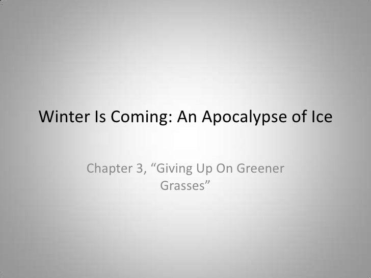 An Apocalypse of Ice; chapter 3