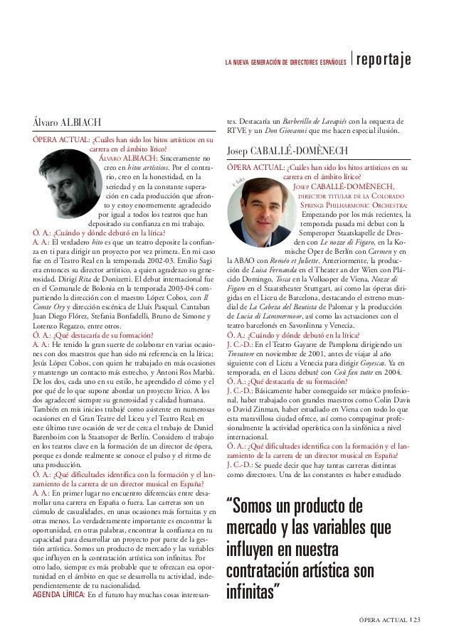 LA NUEVA GENERACIÓN DE DIRECTORES ESPAÑOLES   reportajeÁlvaro ALBIACH                                                     ...