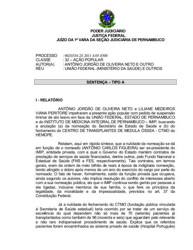 Açao popular   nomeacao de secretario e fechamento de unidade de saude - 0020334-25.2011
