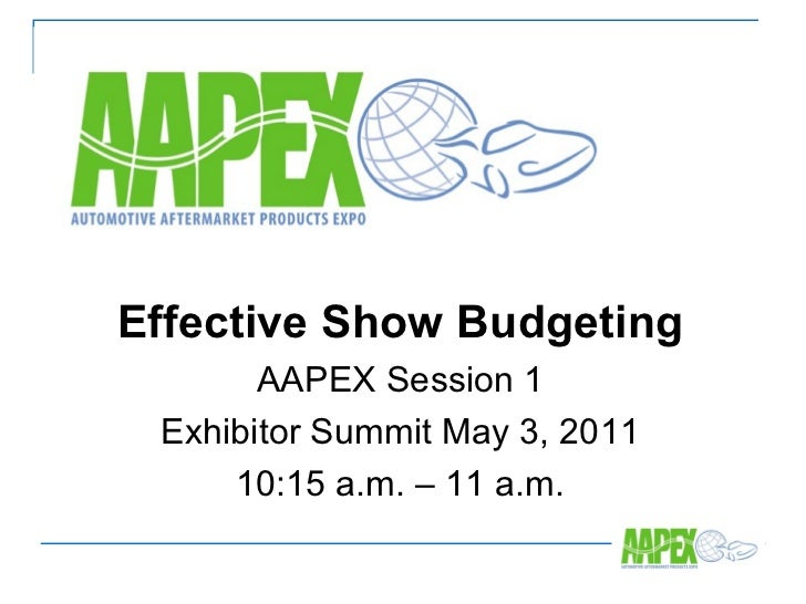 AAPEX effective tradeshow budgeting