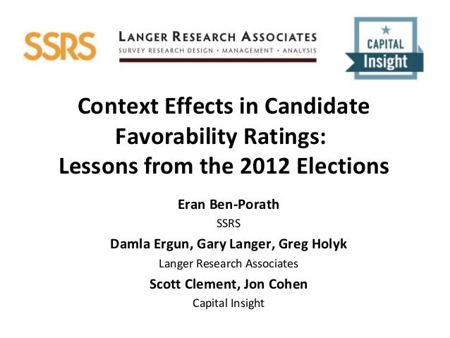 AAPOR 2013 SSRS Langer CapInsight Context Effects