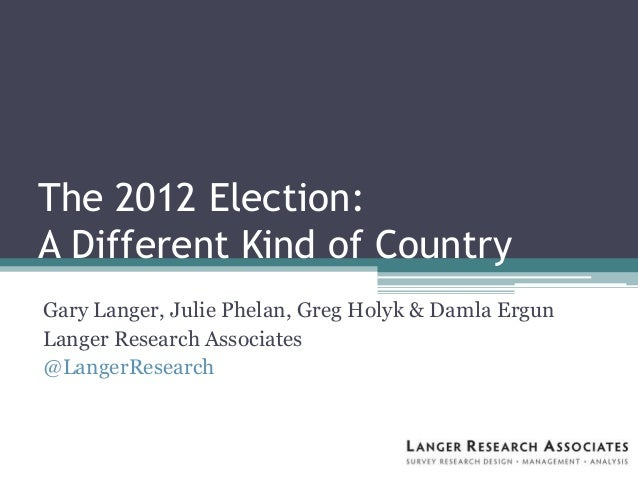 AAPOR 2013 Langer Research: Election