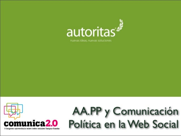 AA.PP y Comunicación Política en la Web Social