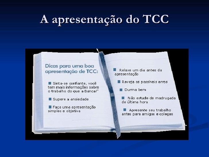 Como fazer a apresentacao do tcc