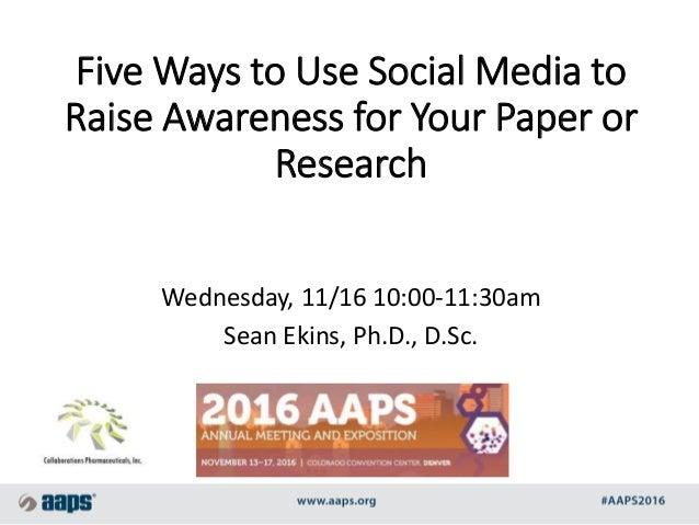 Social media research paper topics