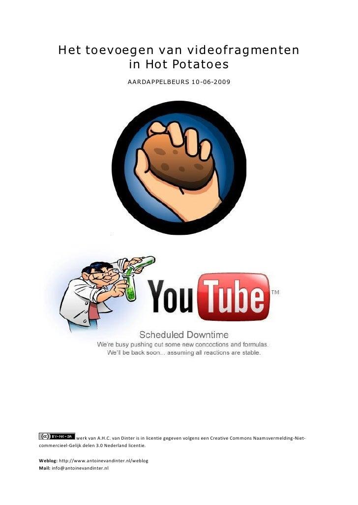 H et toevoegen van videofragmenten                    in Hot Potatoes                                       A AR DA P PELB...