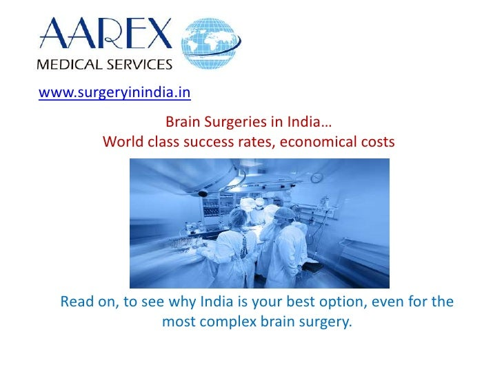 Brain Surgery in India - Advantages