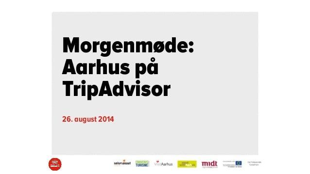 Aarhus på TripAdvisor - afslutningsseminar
